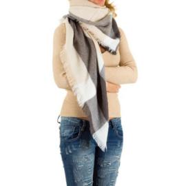 Sjaal van Best Fashion Beige/grijs 140x140cm