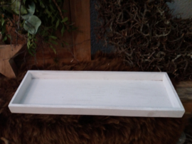 Houten Plateau / onderbord 40cm White