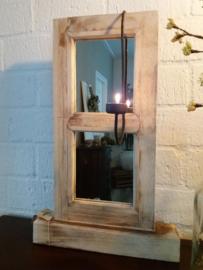 Luik staand model met spiegel oud look H.55,5xB.35cm