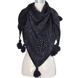 Scarf / Sjaal peace driehoek black