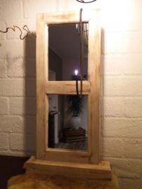Luik staand model met spiegel oud look H.75,5xB.39cm