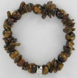 Charm kralen armband bruin - TSA03