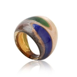 MR2. Murano ring (Blauw/groen) 16mm