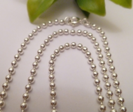 Zilveren bolletjes ketting 1,5mm | 90 cm