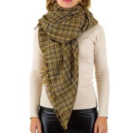 Sjaal van Best Fashion yellow 140x140cm
