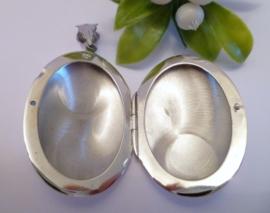Zilveren Medaillon *Ovaal* small 2,5x2 cm   2068