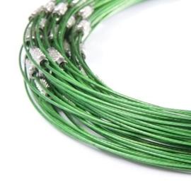 BSP005. Spangen donker groen 50cm
