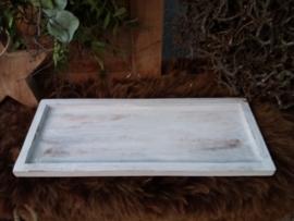 Houten Plateau / onderbord 40cm Antique White