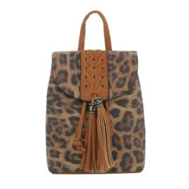 Rugtas met luipaard print (TA-5160-48-brown)