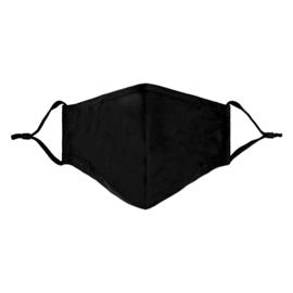 Mondkapje zwart (per 2 stuks)