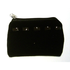 Charm portemonne/buideltje zwart