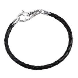 SilveRado Lederen gevlochten armband 21/22 cm