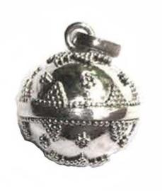 Zilveren Zwangerschapsbel balinees/ Bola (Ø 14 mm)