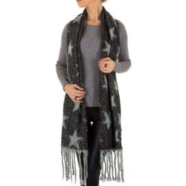 Sjaal van Holala grijs met sterren