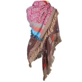 Scarf / Sjaal print bruin