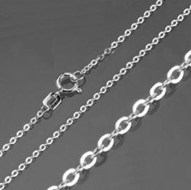 Zilveren anker ketting 1,3mm 42 cm | 9941