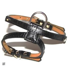Harnas / tuigje zwart Smal (8mm sliders)