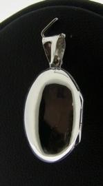 Zilveren Medaillon Ovaal 2,5x2 cm  | 2081