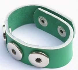 Clicks armband leder Groen 22cm | CA05