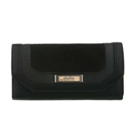 Luxe Portemonnee Pocket PU-leder GB-M487-black