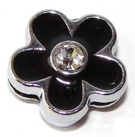 FS35. Slider flower black 8 mm