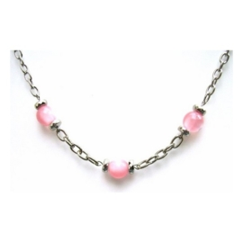 CK02. Be-Charmed ketting roze