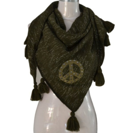Scarf / Sjaal peace driehoek -green-