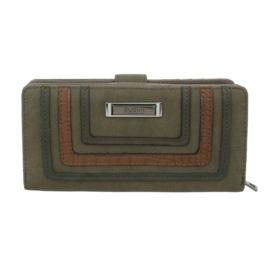 Luxe Portemonnee Pocket PU-leder GB-M492-green