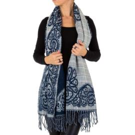 Sjaal/omslagdoek van Holala bleu/grey