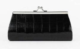 Luxe dames portemonnee / make-up tasje zwart | P12