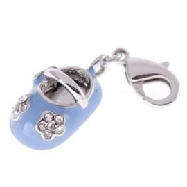 Charm bedel - baby schoentje blauw | 0560-03