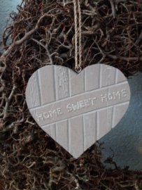 Teksthart M taupe 15cm Home Sweet Home
