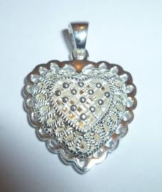 Zilveren kettinghanger hart | KH001