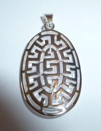 Open gewerkte zilveren kettinghanger | KH011