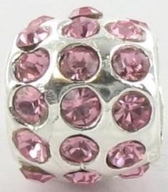 Pandora style bedel - roze zirkonia | 36