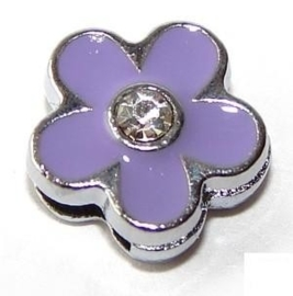 FS32. Slider flower purple 8 mm