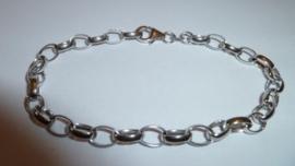 Zilveren schakel armband 19 cm | A002