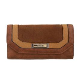 Luxe Portemonnee Pocket PU-leder GB-M487-brown