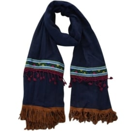 Boho Ibiza sjaal Paradise bleu