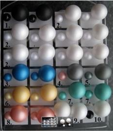 Double Dots parel oorbellen 16mm (gekleurd)