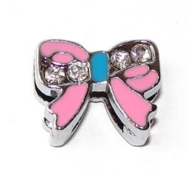 FS04. Butterfly slider pink 8mm