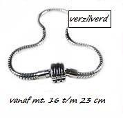 Verzilverde armbanden vanaf mt. 19 t/m 23 cm