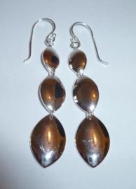 Lange zilveren oorbellen 6 cm | 0072