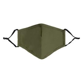 Mondkapje leger groen (per 2 stuks)