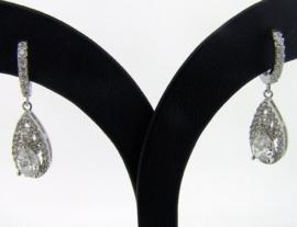 Fashion Zilveren zirkonia oorbellen | 0038