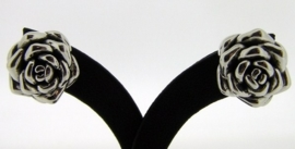 Zilveren oorknoppen - Rozen | 0056