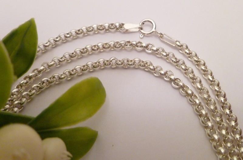 Zilveren Jasseron collier 3mm | 45cm