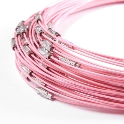 BSP018. Spangen zacht roze 50cm