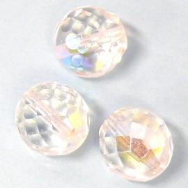 (BJW030) glaskraal crystal AB facet rond 12mm