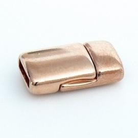 DQ metaal ROSE GOUD magneetsluiting voor 10mm plat leer (B07-002-RG)